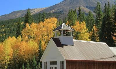Photograph - St Elmo Colorado Church In Autumn by Dan Sproul