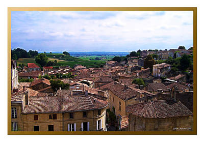 Photograph - St. Emilion View by Joan  Minchak
