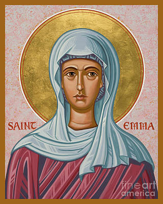 Painting - St. Emma - Jcemm by Joan Cole
