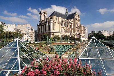 Photograph - St Eustache Church Paris by Pierre Leclerc Photography