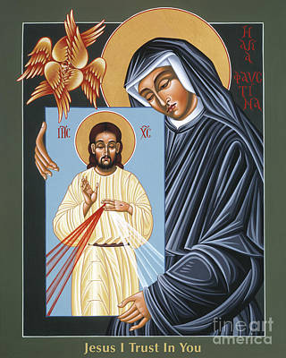 Painting - St Faustina Kowalska Apostle Of Divine Mercy 094 by William Hart McNichols
