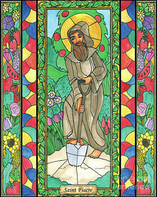 Painting - St. Fiacre by Brenda Nippert