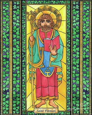 Painting - St. Finnian by Brenda Nippert