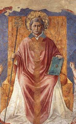 Painting - St Fortunatus Enthroned by Gozzoli Benozzo