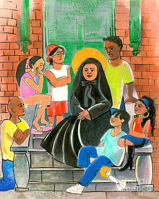 Painting - St. Frances Cabrini - Mmfca by Br Mickey McGrath OSFS