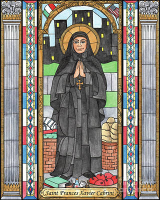 Painting - St. Frances Xavier Cabrini by Brenda Nippert