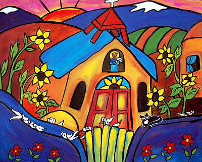 Painting - St. Francis Ad Friends by Jan Oliver-Schultz