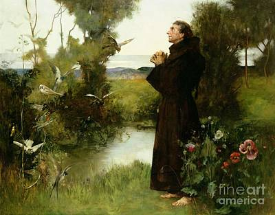 Mother Mary Painting - St. Francis by Albert Chevallier Tayler