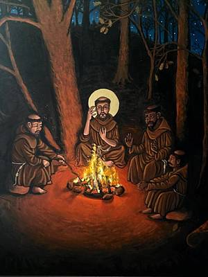 Painting - St. Francis And The Novices by Kelly Latimore