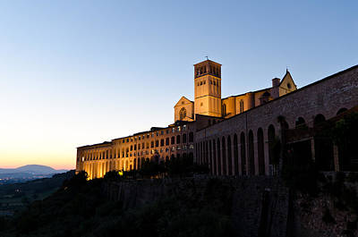 St Francis Assisi At Sundown Art Print by Jon Berghoff