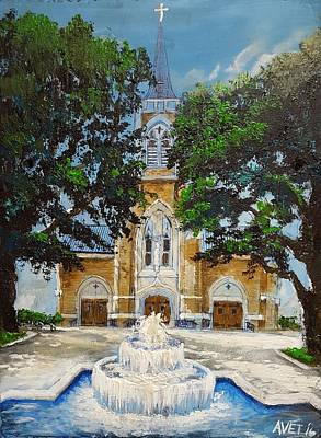 New Orleans Painting - St. Francis Cathedral by Nicolas Avet