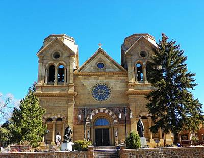 Art Print featuring the photograph St. Francis Cathedral Santa Fe Nm by Joseph Frank Baraba