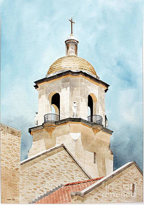 Painting - St Francis Church by Monte Toon