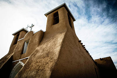 Photograph - St. Francis Church Taos by Marilyn Hunt