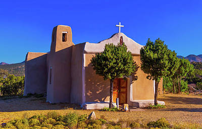 Photograph - St. Francis De Assisi Adobe Church by Stephen Anderson