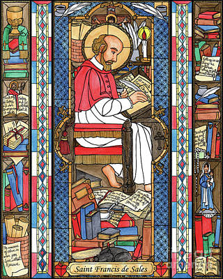 Painting - St. Francis De Sales by Brenda Nippert