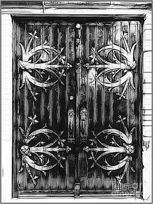 Photograph - St Francis De Sales Oratory Church Door  St Louis by Luther Fine Art