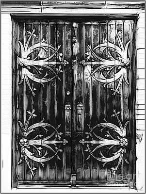 Photograph - St Francis De Sales Oratory Church Door  St Louis by Luther Fine Art