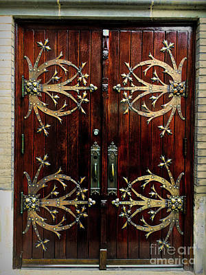 Photograph - St Francis De Sales Oratory Wood Door St Louis by Luther Fine Art
