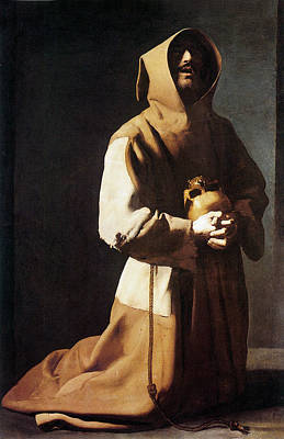 Zurbaran Photograph - St. Francis Kneeling by Francisco de Zurbaran