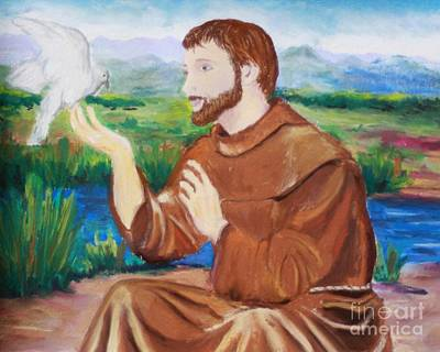 Painting - St. Francis Of Assis by Melinda Etzold
