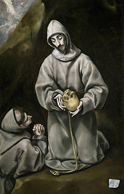 Spanish Art Painting - St. Francis Of Assisi by El Greco
