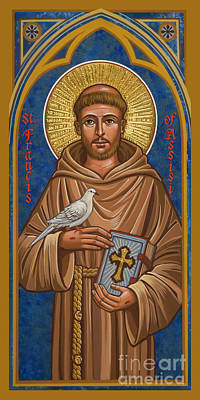 Painting - St. Francis Of Assisi - Jcfoi by Joan Cole