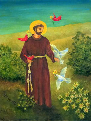Painting - St. Francis Of Assisi by Pamela Allegretto