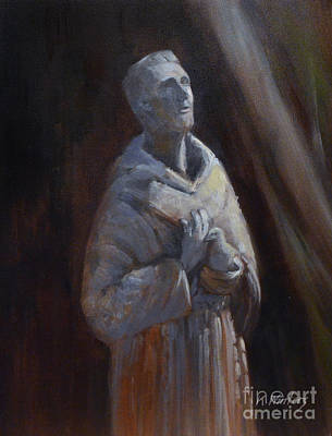 St. Francis Of Assisi Statue Art Print by Karen Winters