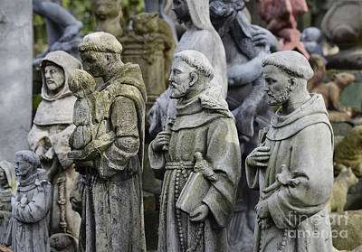 St Francis Statues Art Print by John Greim