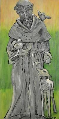 St Francis With Lamb I Art Print