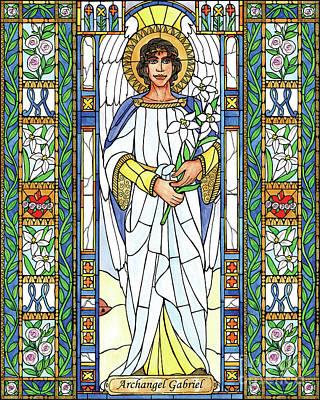Painting - St. Gabriel Archangel by Brenda Nippert