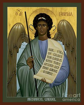Painting - St. Gabriel Archangel - Rlaag by Br Robert Lentz OFM