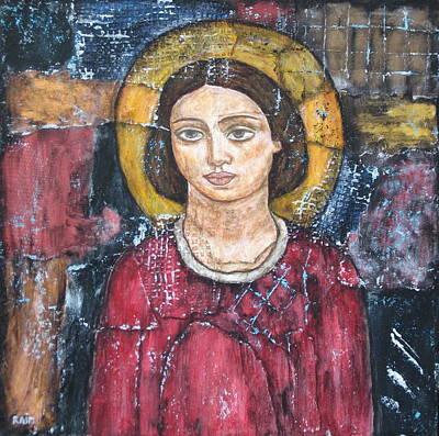 Christian Art . Devotional Art Painting - St. Gabriel by Rain Ririn