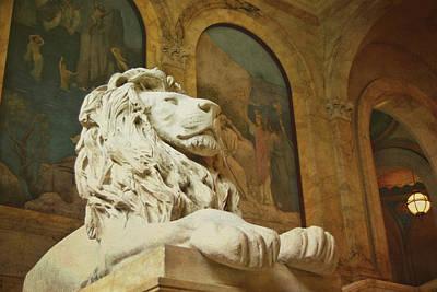 Photograph - St. Gaudens Lion by JAMART Photography
