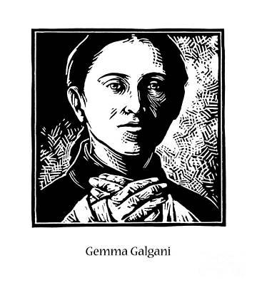 Painting - St. Gemma Galgani - Jlgeg by Julie Lonneman