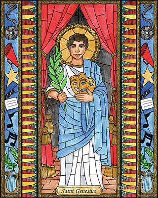 Painting - St. Genesius by Brenda Nippert