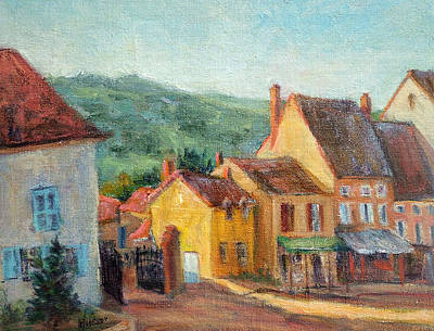 Painting - St. Gengoux Morning by Jill Musser