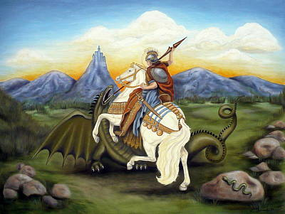 St. George And The Dragon Original by Louise Udovich