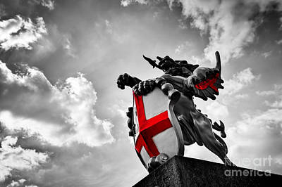Coat Photograph - St George Dragon Statue In London, The Uk by Michal Bednarek