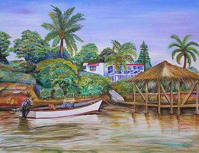 Painting - St. George Harbor by Patricia Piffath