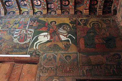 St George In Debre Birhan Selassie Church Art Print by Aidan Moran