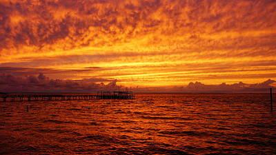 St. George Island Sunset Art Print by Paul  Wilford