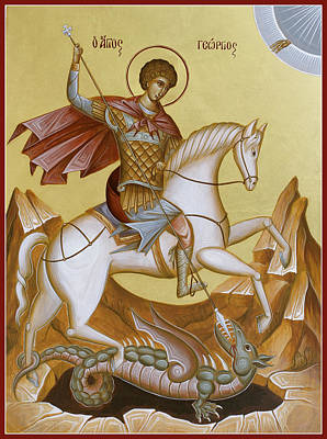 Christianm Sacred Painting - St George by Julia Bridget Hayes