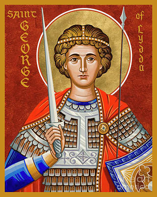 Painting - St. George Of Lydda - Jcgly by Joan Cole
