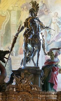 Photograph - St. George Statue At Weltenberg Monastery by Barbie Corbett-Newmin