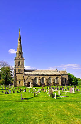 Clouds Rights Managed Images - St Georges Church, Ticknall Royalty-Free Image by Rod Johnson