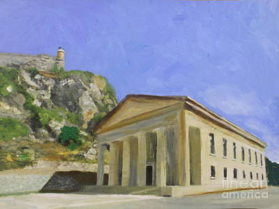 St George's Church In Corfu Greece Original by Donna Walsh
