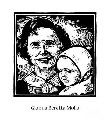 Painting - St. Gianna Beretta Molla - Jlgbm by Julie Lonneman