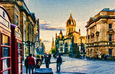 Tourist Attraction Digital Art - St Giles' Cathedral by John K Woodruff
